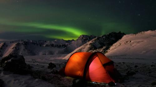Bivouac hivernal au cœur de la Laponie Suédoise